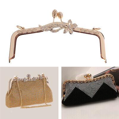 Gold Metal Frame Kiss Clasp Lock for Coin Purse Handbag Accessory DIY Craft