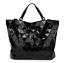 NEW-STYLE-High-Quality-BAO-BAO-Issey-Miyake-Metallic-BLACK-TOTE-Bag-NEW miniatuur 1