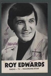 SIGNED-Roy-Edwards-Radio-TV-photo-card-L-485