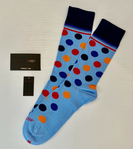 Duchamp London Blue Spot Fine Anglais chaussettes en coton égyptien UK 7-11 EUR 41-46