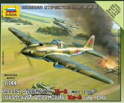 6125 Il-2 Soviet Stormovik Fighter Bomber - Zvezda 15mm Veicoli 1/144 - Ww2