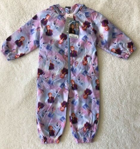Baby Girls Disney Frozen 2 All In One Puddle Suit ~ Shower ☔ Resistant ~ 2-3 Yrs