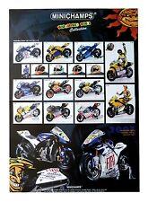 Minichamps Valentini Rossi Collection Honda Yamaha Poster Plakat 42 x 29,5 cm