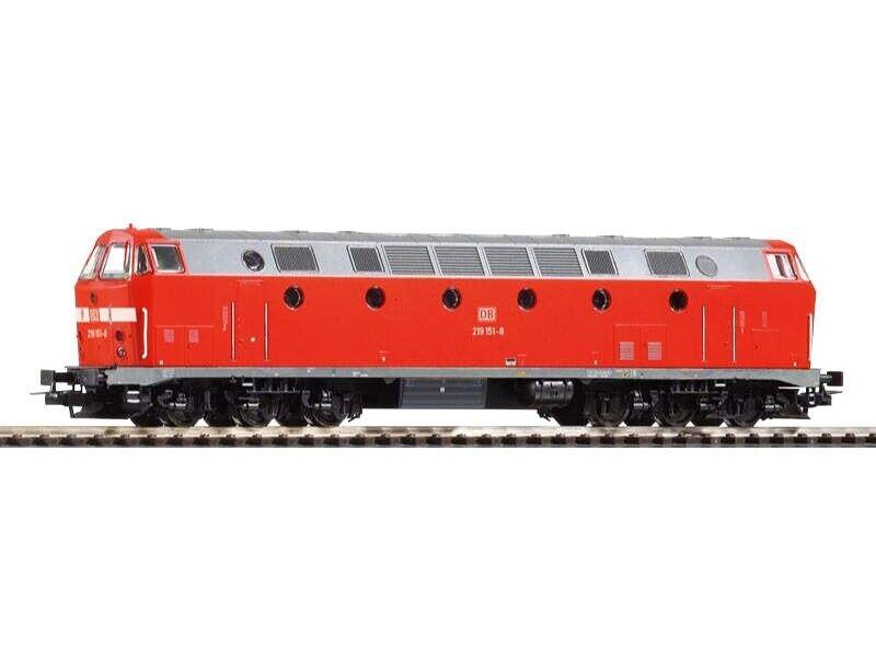 Piko 59933 diesellok 219 de la DB AG, luz abajo, época V, pista h0