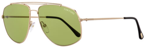 Tom Ford Aviator Sunglasses TF496 Georges 28N Gold//Black 59mm FT0496