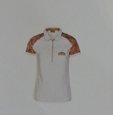 Prima Classe maglia bianca mappa t shirt manica corta Alviero Martini L