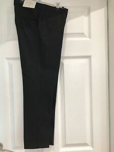 Premium Trousers Wool 8 Size Italian Black Next Tailoring R1gwqnxtw5