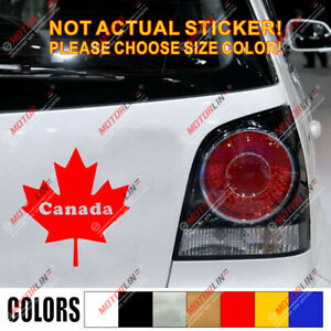 Maple Leaf Decal Sticker Canada Canadian Car Vinyl pick size color no bkgrd c