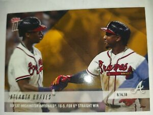 2018 Topps Now Ronald Acuna Jr/Ozzie Albies SSP ONLY 805 PRINTED PWB64