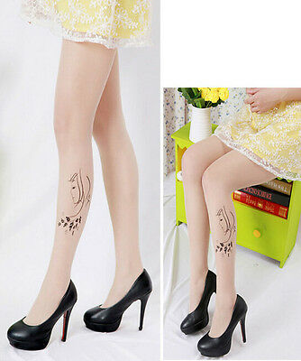 Fashion Lady Women Sexy Sheer Pantyhose Pattern Printed Tattoo Stockings Tights