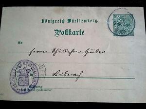 Wuerttemberg-Postkarte-siehe-Scan