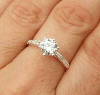 White CZ 925 Silver Solitaire Ring Jewellery