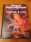 AD&D 2 - LEGENDS & LORE - TSR Jeu de Rôle JdR RPG