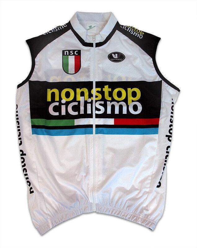 Nonstop Ciclismo TREVALLI Cyclisme Coupe-vent Wind Vest par Vermarc LG