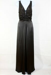 HOBBS-Vintage-Inspired-Grey-Silk-Ruched-Beaded-Special-Occasion-Maxi-Dress-Uk-14