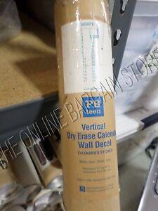 Pottery Barn Teen Pbt Vertical Dry Erase Month Calendar