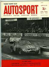 Autosport August 30th 1963 *Mini Cooper S Test & Goodwood TT*