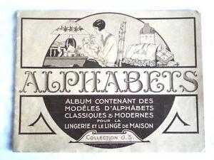 COUTURE BRODERIE ANCIEN ALBUM D'ALPHABETS VERS 1920