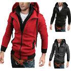 Mens Fleece Hoodie Sweatshirt Hooded Zip Casual Winter Jumper Top Jacket Outwear