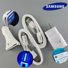 OEM LED Samsung Galaxy S7 S6 Edge+ Note 5 4 Cable/Fast Car Charger/Wall Charger