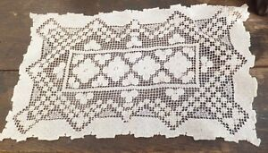 Antique-Cotton-Handmade-Lace-Dressing-Table-Cloth-Cluny-Lace-or-Crochet