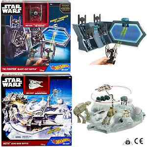 fc0cb4e7d857 Hot Wheels Star Wars Tie Fighter and Hoth Battle Playsets Age 4+ ...