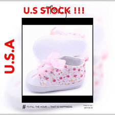 Girl Shoes Floral Infant Soft Cotton Sole Baby First Walker Toddler Shoes m9