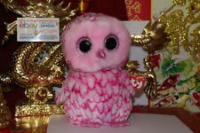 f3e85ee5f89 item 2 TY BEANIE BOOS PINKY THE PINK OWL.9