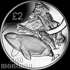 2014 ORCA WHALE - CuNi Copper Nickel Unc Coin - British Antarctic Territory £2