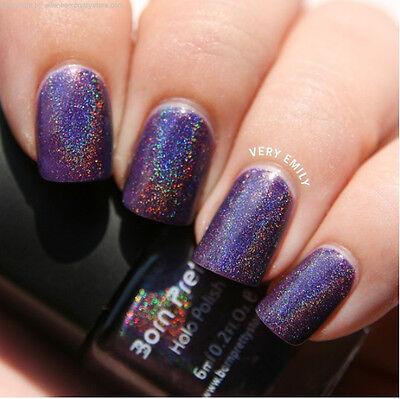6ml Born Pretty Holo Glitter Nail Art Polish Varnish Hologram Effect -12 colors