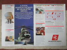 3/1992 PUB HELIKOPTER SERVICE NORWAY / ARTICLE 3 PAGES RUSSIAN HEAVY LIFT AD