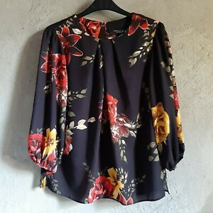Dorothy-perkins-3-4-sleeved-floral-blouse-small