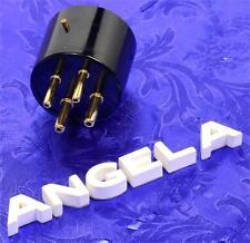 4 Pin Black Phenolic & Gold Tube Base for 300B 2A3 Triode Tube DIY Repair Audio