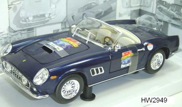 Ferrari 250 GT California Spider bleu 60TH ANNIVERSAIRE Hot Wheels 1 18 Blowout