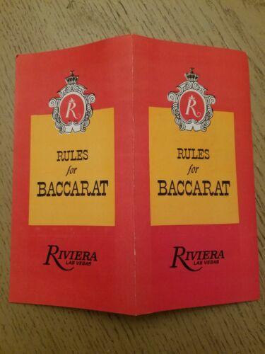 NOS 1970 Riviera Casino Hotel Las Vegas NV Gaming Guide Baccarat Rules Brochure