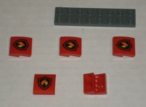 LEGO NEW 2x2x0.66 Red Slope Curved with Decoration 6132565 Brick 24410 5x