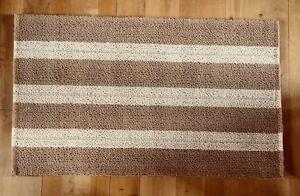 Details About Cotswold Company Light Brown Cream Stripe Loop Pile Jute Rug 153cm X 91cm
