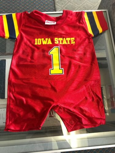 New Iowa State Cyclones #1 Youth Romper Jersey Button up