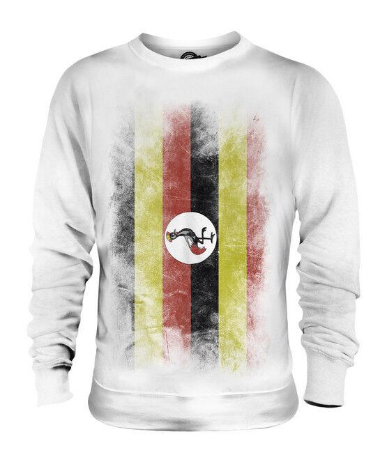 UGANDA VERBLICHEN FLAGGE UNISEX SWEATER PULLOVER PULLI SWEATSHIRT HERREN DAMEN