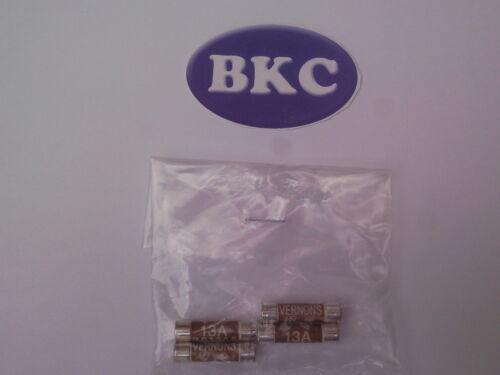 Pack De 4 Fusibles disponible en 3 Amp o 13 Amp-dencon piezas eléctricas 5 Amp