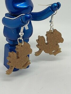 Final Fantasy Style Chocobo Gold Earrings Retro Gaming Video Games Geek Golden
