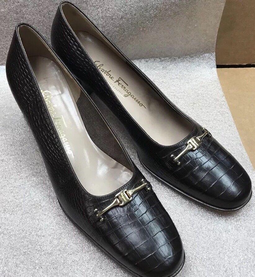 Salvatore Ferragamo Boutique Low Heel Loafer Dress Shoe 38595 DR 38595 Shoe Sz 10 4A Brown 8f1b57