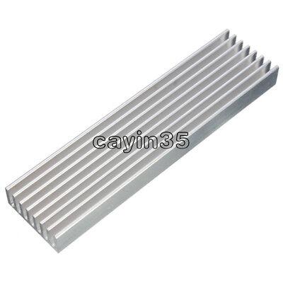 FleißIg Aluminum Heat Sink Cooling Led Power Ic Transistor 100x25x10mm For Computer Uk