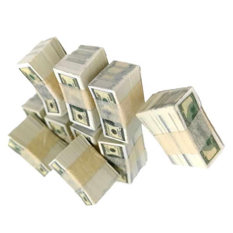1//12 Scale A bundle Miniature Play Money Us $100 $1BanknotBB