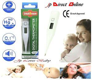 Temperatura-Termometro-Oral-medica-Bebe-Adulto-biper-Digital-LCD-ninos-ninos-del-oido
