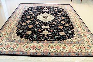 Super-Fine-Persian-Tabriz-100-Virgin-Wool-8-039-x10-039-ONE-OF-A-KIND