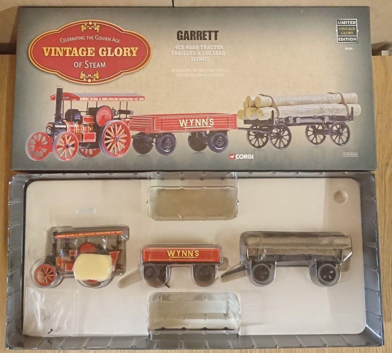 Corgi 80305 Vintage Glory 4CD Rd Tractor Trailers & Log Load Ltd Ed 0005 of 5200