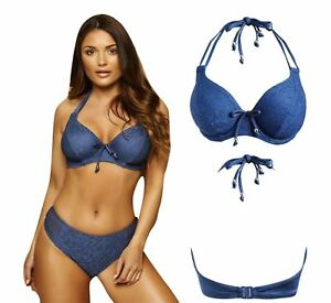 e09ec8d68691a Image is loading Pour-Moi-Swimwear-Puerto-Rico-Underwired-Halter-Triangle-