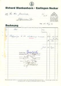 Rechnung-Fa-Richard-Blankenhorn-Esslingen-Neckar-11-3-1940