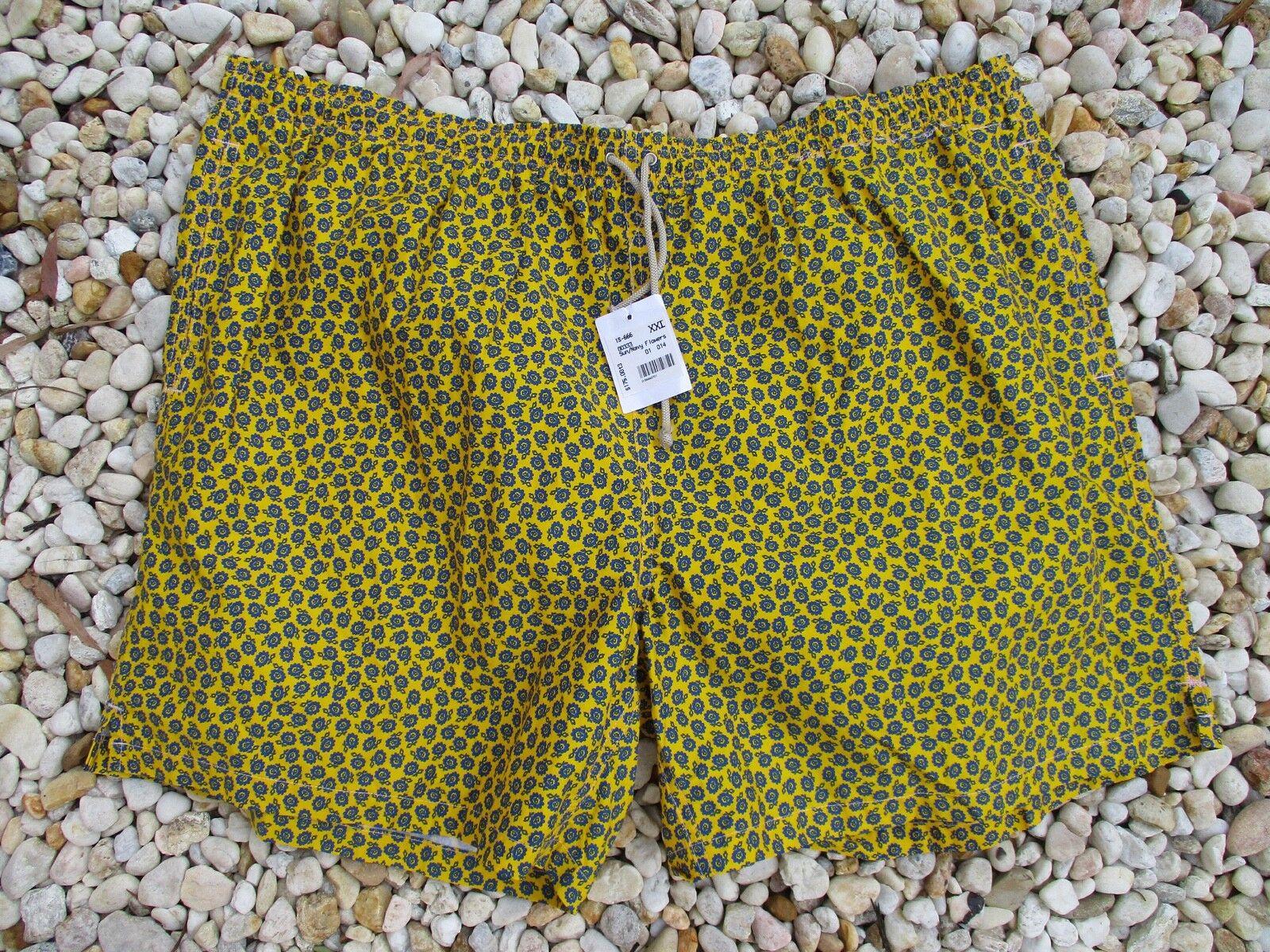 Giorgio's of Palm Beach made  yellow floral swim trunks XXL new